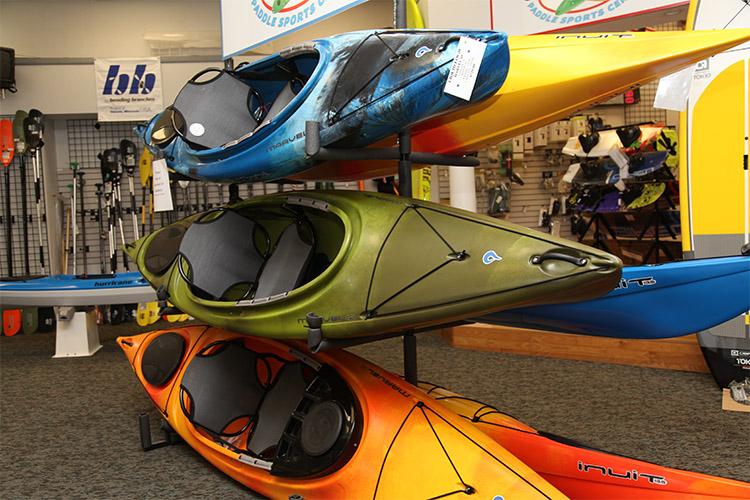 Kayaks at Krupa's Boat Mart
