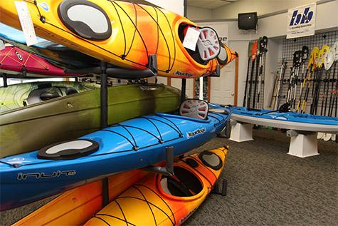 Kayaks at Krupa's